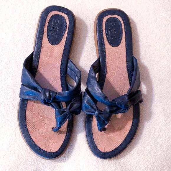 Boc Sandals Navy Blue Leather Flip Flop